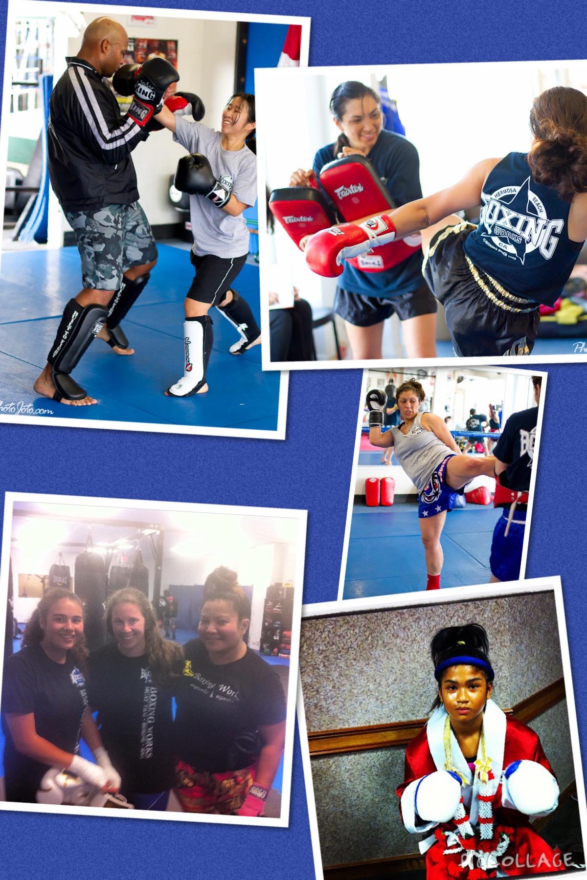 Muay thai boxing women